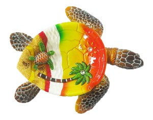 "Ashtray POLY TURTLE 5"" * UOM: PC * Minimum Order:4"