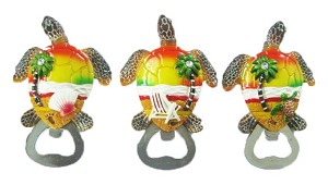 BOTTLE OPENER POLY TURTLE SHAPE * UOM: PC * Minimum Order:12