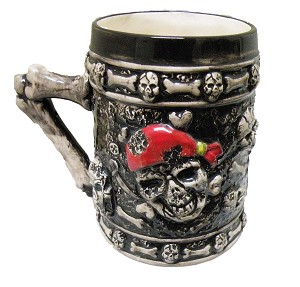 BEER STEIN PIRATE HEAD * UOM: PC * Minimum Order:8