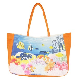 BAG BEACH-REEF DESIGN PL * UOM: PC * Minimum Order:12