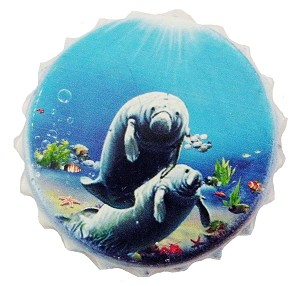 BOTTLE OPENER POLY CAP BOTTLE-MANATEE * UOM: PC * Minimum Order:12