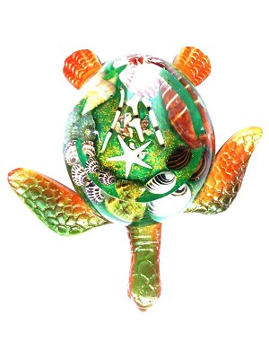 ASHTRAY ROUND GREEN TURTLE/SHELL * UOM: PC * Minimum Order:6