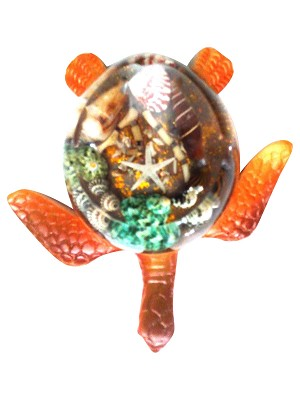 ASHTRAY ROUND BROWN TURTLE/SHELL * UOM: PC * Minimum Order:6