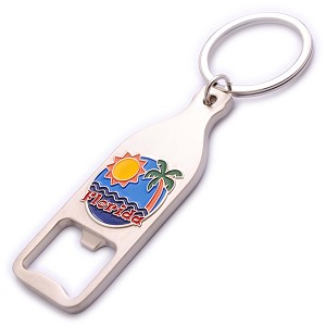 BOTTLE OPENER KEY CHAIN METAL CIRCLE/COLORS F * UOM: PC * Minimum Order:24