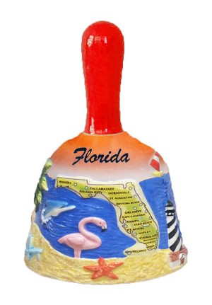 BELL-ORANGE FL MAP/FLAMINGOS * UOM: PC * Minimum Order:6