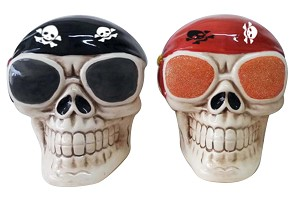 BANK-CERAMIC SKULLS 3/S * UOM: PC * Minimum Order:4