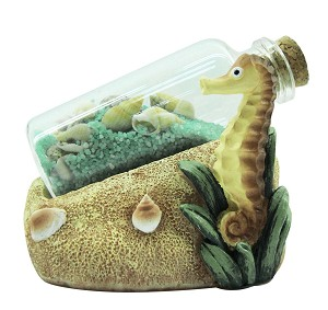 BOTTLE W/SAND-SEAHORSE * UOM: PC * Minimum Order:4