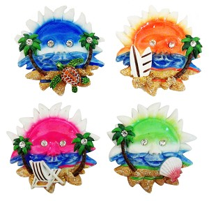 MAGNET SUN/PALM TREE 4/S * UOM: PC * Minimum Order:12