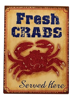"C/O-PLAC-Metal-""Fresh Crabs"" * UOM: PC * Minimum Order:6"