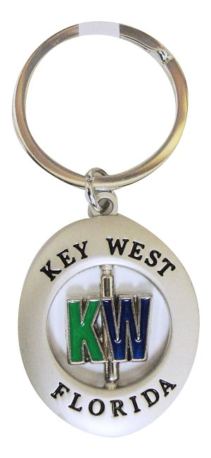 Key Chain METAL SPIN/KW LETTERS - UOM: DZ - Minimum Order:1